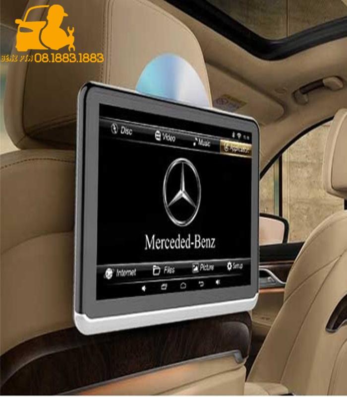 Lắp màn hình gối đầu Mercedes chính hãng